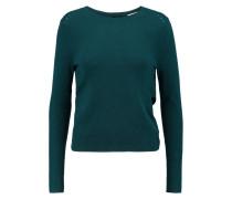 Wrap-effect Cashmere Sweater Türkis