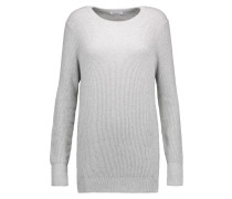 Rei Ribbed Cotton And Cashmere-blend Sweater Grau