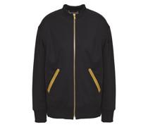 Embellished Jersey Bomber Jacket