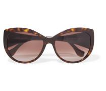 Round-frame Tortoiseshell Acetate Sunglasses Horn