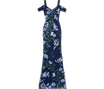 Robe aus Tüll mit Floralen Applikationen, Stickereien und Cut-outs