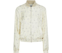 Jacque Floral-print Silk-twill Bomber Jacket