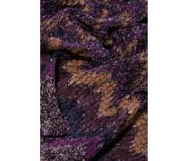 Fringed Crochet-knit Scarf Mehrfarbig