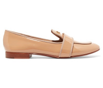 Evette Patent-leather Loafers Beige