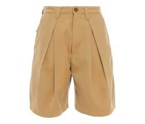 Shorts aus Twill aus Einer Baumwollmischung mit Falten