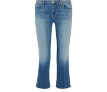 Faded Mid-rise Kick-flare Jeans