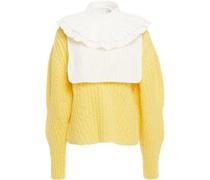 Plissierter Pullover aus Einer Popeline-wollmischung