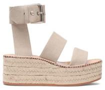 Canvas platform espadrille sandals