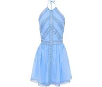Kim Neckholder-minikleid aus Häkelspitze und Voile aus Einer Baumwollmischung