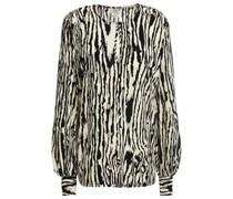 Mandra Bedruckte Bluse aus Gehämmertem Crêpe