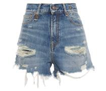 Woman Carlton Distressed Denim Shorts Mid Denim