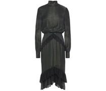Kleid aus Devoré-satin mit Spitzenbesatz und Metallic-effekt