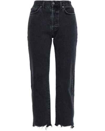 High-rise Straight-leg Jeans Charcoal  6