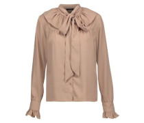 Heather pussy-bow crepe de chine blouse