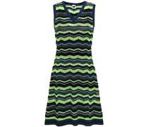 Striped Crochet-knit Mini Dress