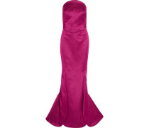 Strapless double-faced duchesse silk-satin gown