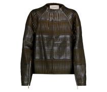 Metallic Jacquard Jacket Armeegrün