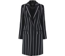 Pinstriped Brushed-twill Coat Mitternachtsblau