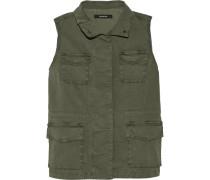 Arden Cotton-blend Canvas Vest Armeegrün