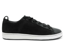 Brayden Suede And Patent-leather Sneakers Schwarz