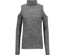 Maria Cutout Stretch-jersey Top Grau