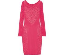 Raya Open-knit Dress Knallpink
