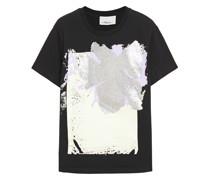 Bedrucktes T-shirt aus Baumwoll-jersey mit Pailletten