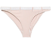 Pippa Belted Striped Low-rise Bikini Briefs