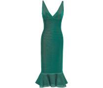 Fluted Tulle-paneled Bandage Dress