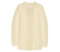 Cable-knit Merino Wool Sweater Ecru