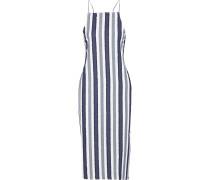 Melanie Striped Fil Coupé Cotton Midi Dress