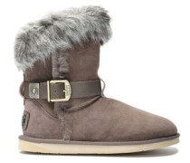 Tsar Short buckled shearling ankle boots