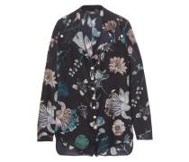 Floral-print Silk Playsuit Navy