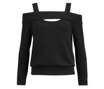 Fleece-lined cutout jersey top