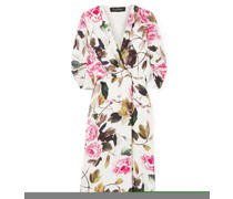 Harlow Floral-print Satin Robe