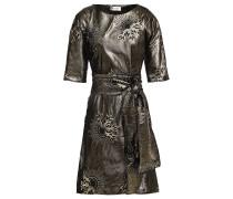 Belted Metallic Jacquard Mini Dress