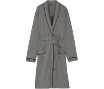 Cotton-blend Robe Anthrazit