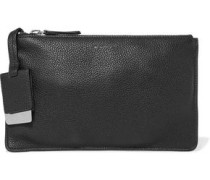 Textured-leather pouch