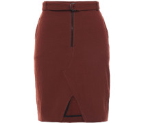 Balsam Belted Stretch-twill Mini Skirt
