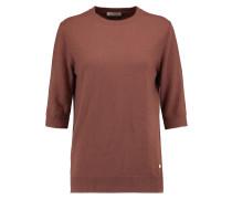 Frayed Cashmere Sweater Braun