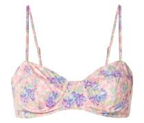 Cassandra Bikini-oberteil mit Floralem Print