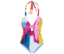 Aya Neckholder-badeanzug mit Cut-outs und Print
