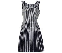 Minikleid aus Jacquard-strick mit Streifen