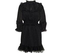 Betsy Minikleid aus Georgette mit Fil Coupé und Rüschenbesatz