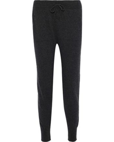 Albie Cashmere And Wool-blend Track Pants Charcoal