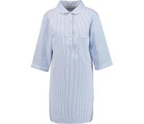 Verbier Striped Cotton Nightdress Himmelblau