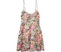 Idris floral-print silk-chiffon mini dress