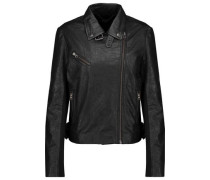 Canes textured-leather biker jacket