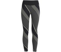 Striped stretch leggings