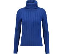 Ribbed Wool Turtleneck Sweater Königsblau